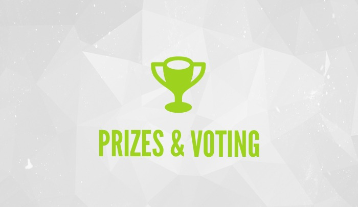 PRIZES AND VOTING feature