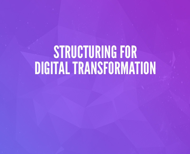 Structuring for Digital Transformation