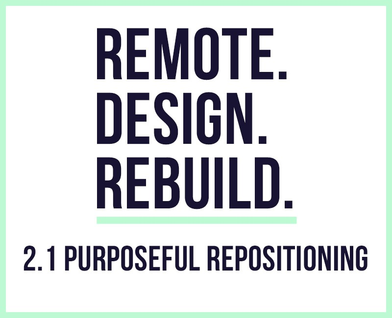 RDR – 2.1 Purposeful Repositioning